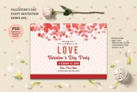 Valentines Day Party Invitation Template  Valentine's Day For Valentine Party Invitation Template
