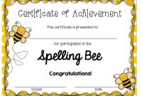 A Blog About Education Children Teaching And My Journey As A inside Spelling Bee Award Certificate Template