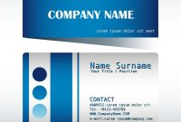 A Blue And Grey Calling Card Royalty Free Vector Image for Template For Calling Card
