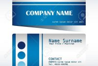 A Blue And Grey Calling Card Template Royalty Free Cliparts Vectors for Template For Calling Card