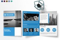 A Business Half Fold Brochure Design Template In Psd Word in Single Page Brochure Templates Psd