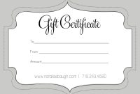 A Cute Looking Gift Certificate  S P A  Gift Certificate Template within Present Certificate Templates