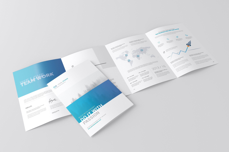 A Fold Brochure Mockuptoasin Studio On Creativemarket Regarding 4 Fold Brochure Template