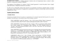 A Guide To Laundry Contracts  Association For Linen Management within Laundry Service Agreement Template