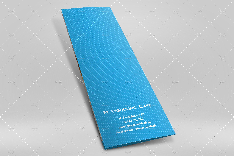 A Half Folded Menu Card Mockupnishima  Graphicriver Within Half Fold Menu Template