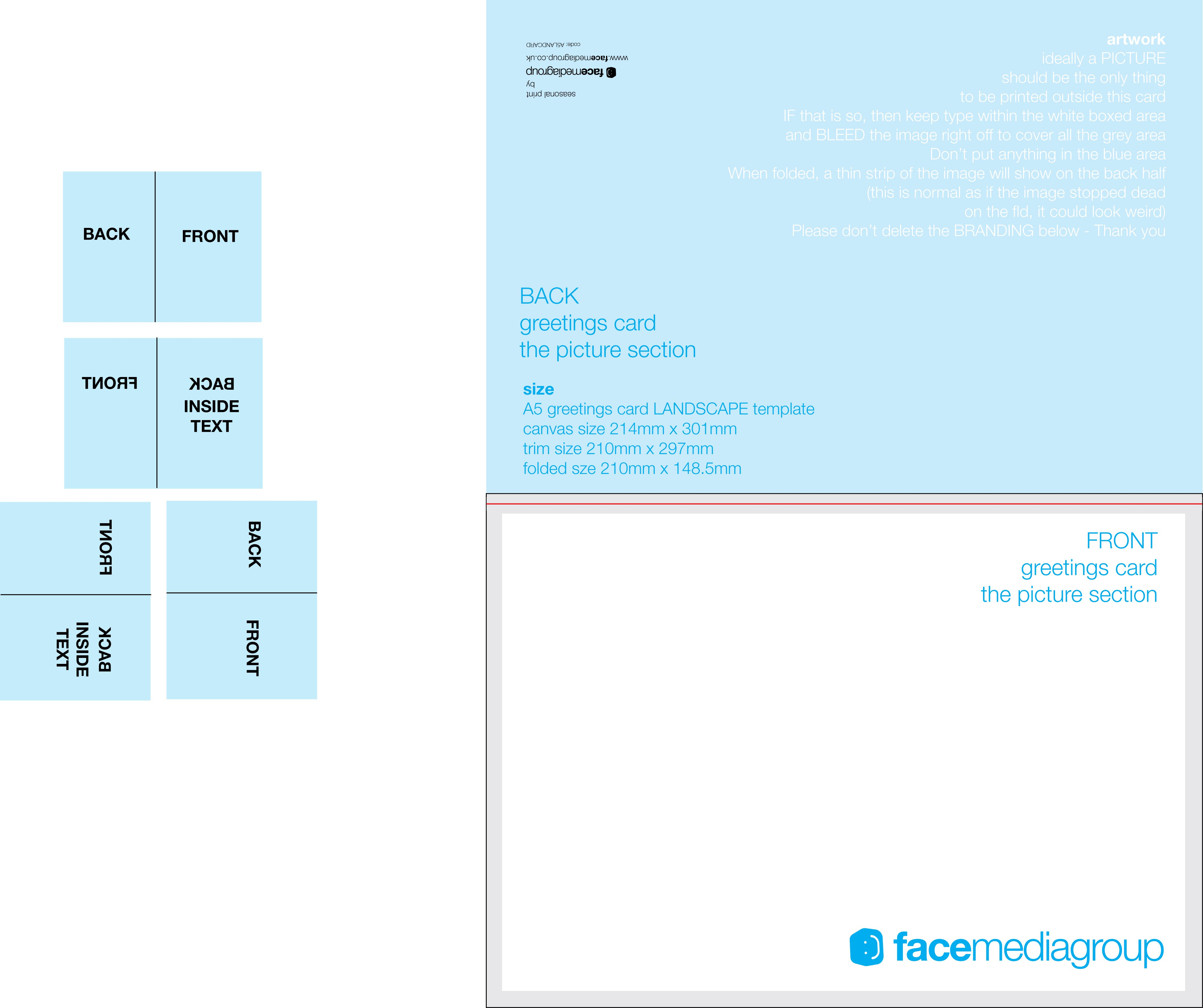 A Landscape Greetings Card Template  Tent Fold  Outside  Photo Throughout Birthday Card Template Indesign