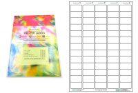 A Precut Multi Matte White Paper Labels X  Labels Per Sheets throughout Label Template 65 Per Sheet