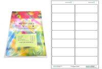 A Precut Multi Matte White Paper Labels X  Labels Per Sheets with 3X8 Label Template