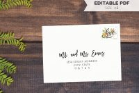 A Rsvp Note Card Envelope Template  Diy Calligraphy  Etsy throughout A2 Card Template