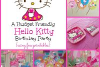 A Super Sweet Hello Kitty Birthday Party Using Free Printables for Hello Kitty Banner Template