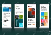 Abstract Business Vector Set Of Modern Roll Up Banner Stand Design for Banner Stand Design Templates