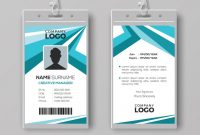 Abstract Corporate Id Card Design Template Vector Image pertaining to Company Id Card Design Template