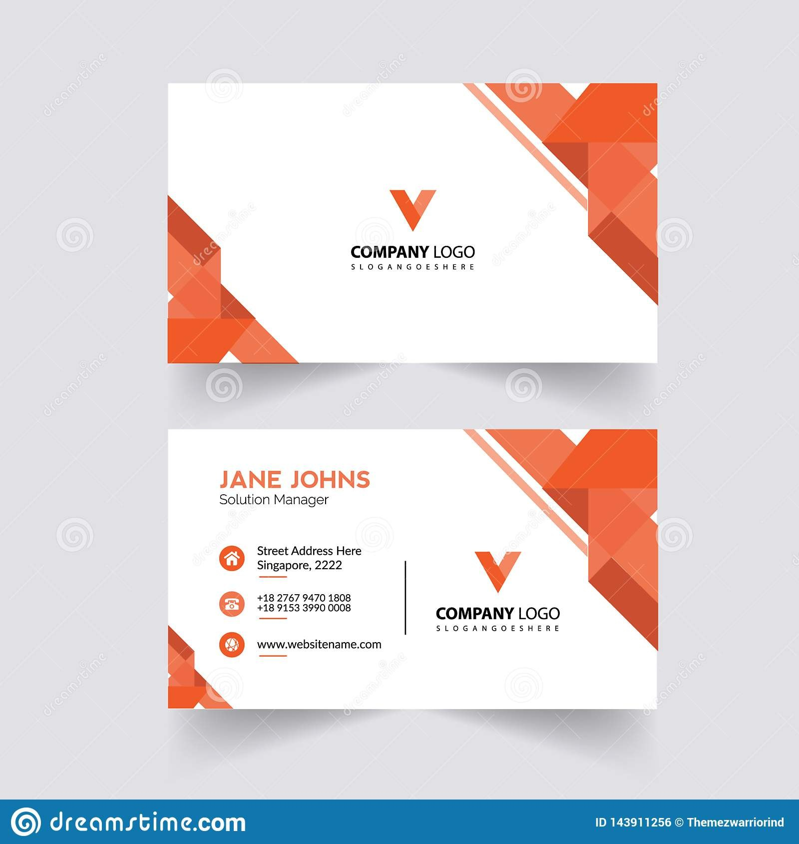 Abstruct Business Card Template Stock Illustration  Illustration Of Intended For Adobe Illustrator Card Template