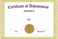 Academic Achievement Award Certificate Template throughout Academic Award Certificate Template