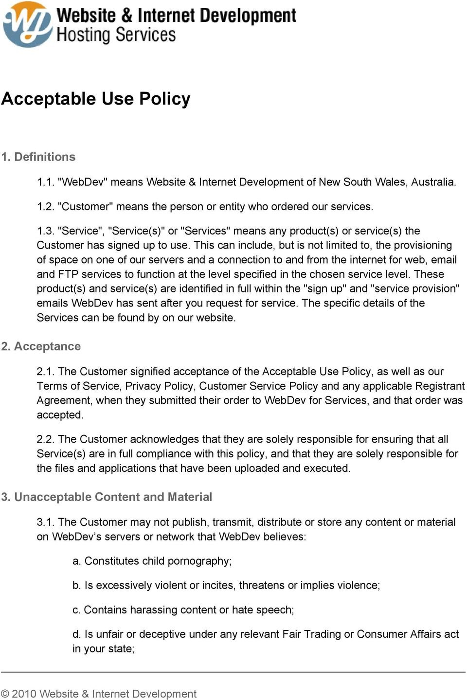 Acceptable Use Policy  Pdf Regarding Public Wifi Acceptable Use Policy Template