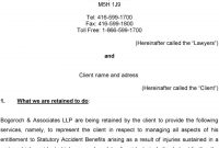 Accident Benefit Contingency Fee Retainer Agreement  Pdf within Conditional Fee Agreement Template