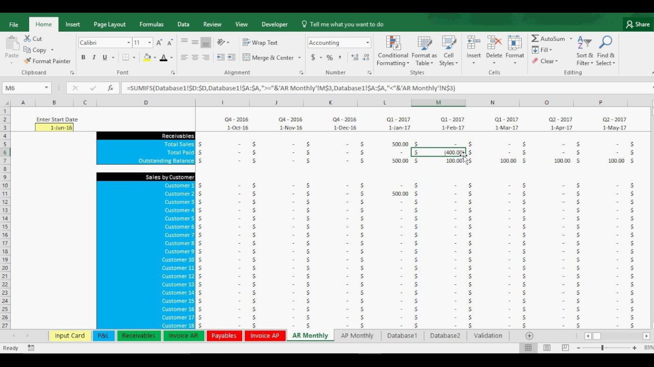 Accounts Receivable And Payable Tracking Template In Excel  Youtube Throughout Accounts Receivable Report Template