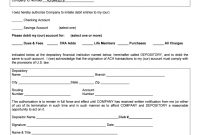 Ach Debit Authorization Agreement  Fill Online Printable Fillable pertaining to Direct Debit Agreement Template