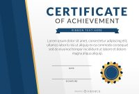 Achievement Certificate Designs Amp Templates In Word Psd  Mandegar intended for Certificate Of Attainment Template