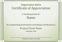 Acknowledge Outstanding Performance Certificate Of Appreciation regarding Best Employee Award Certificate Templates