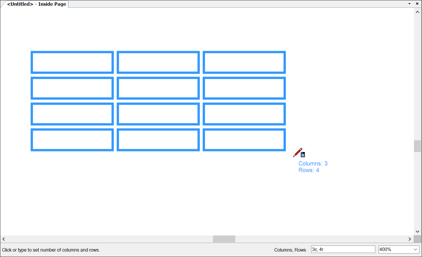Adding Tables To A Document  Sketchup Help Within Blank Table Of Contents Template