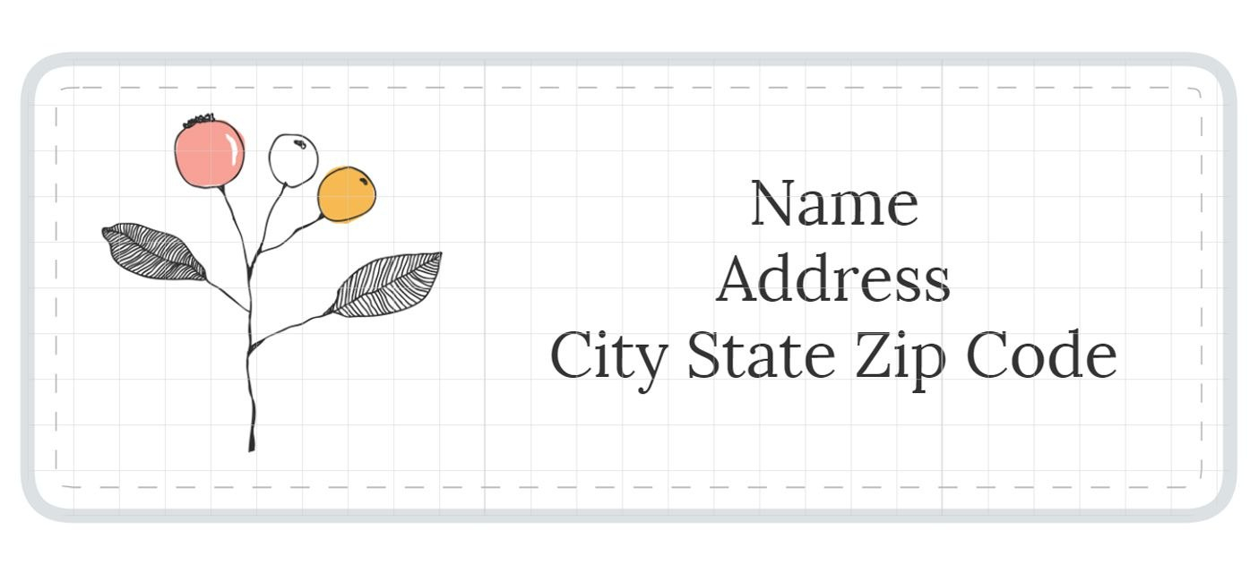 Address Label Templates Inside Free Printable Return Address Labels Templates