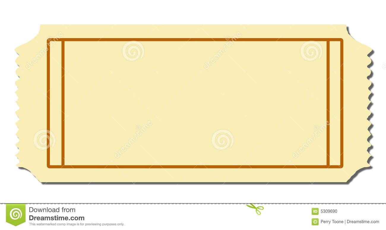 Admission Blank Ticket Stock Illustrations –  Admission Blank Regarding Blank Admission Ticket Template