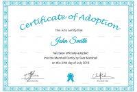 Adoption Certificate Sample  Resume Pdf for Adoption Certificate Template