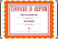 Adoption Certificate Template – Certificate Templates in Adoption Certificate Template