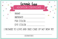 Adoption Certificate Templates  Proto Politics regarding Toy Adoption Certificate Template