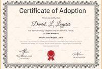 Adoption Certificate Templates  Proto Politics throughout Child Adoption Certificate Template
