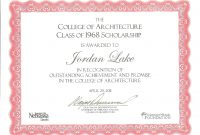 Adoption Certificate Templates Scholarship Template Word With in Scholarship Certificate Template Word
