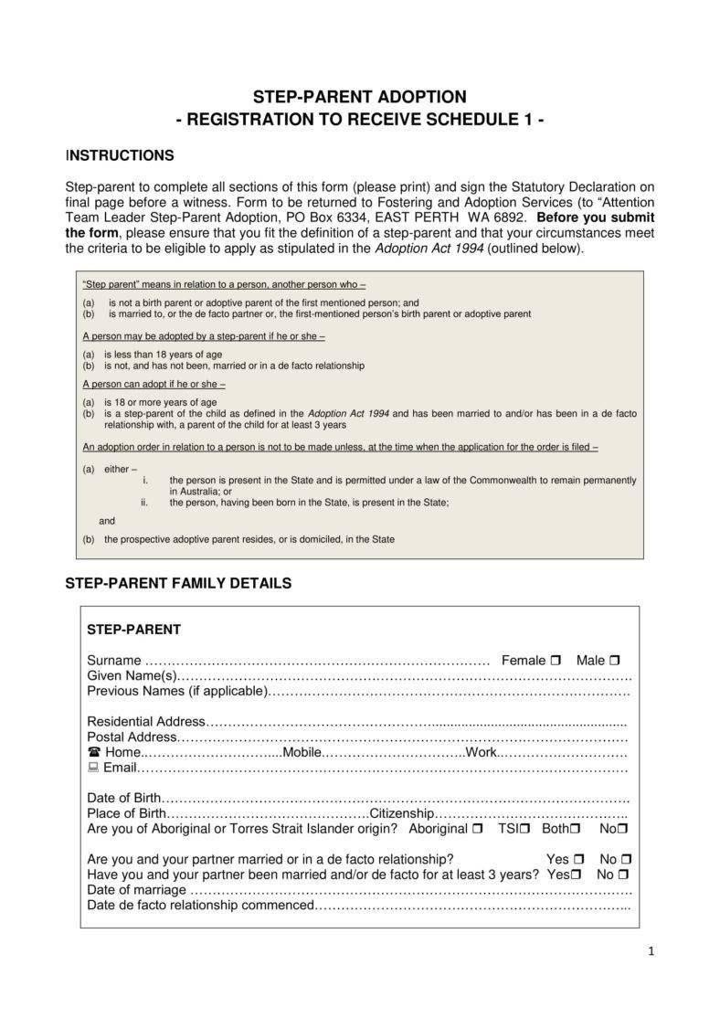 Adoption Paper Templates  Pdf  Free  Premium Templates Inside Child Adoption Certificate Template