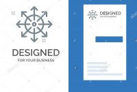 Ads Advertising Media News Platform Grey Logo Design And inside Advertising Card Template