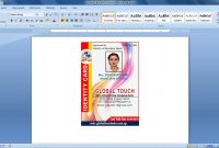 Advance Id Card Design In Ms Word   Youtube in Id Card Template For Microsoft Word
