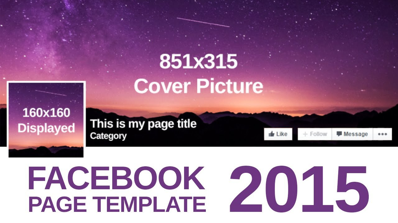 Advanced Facebook Page Template Within Photoshop Facebook Banner Template
