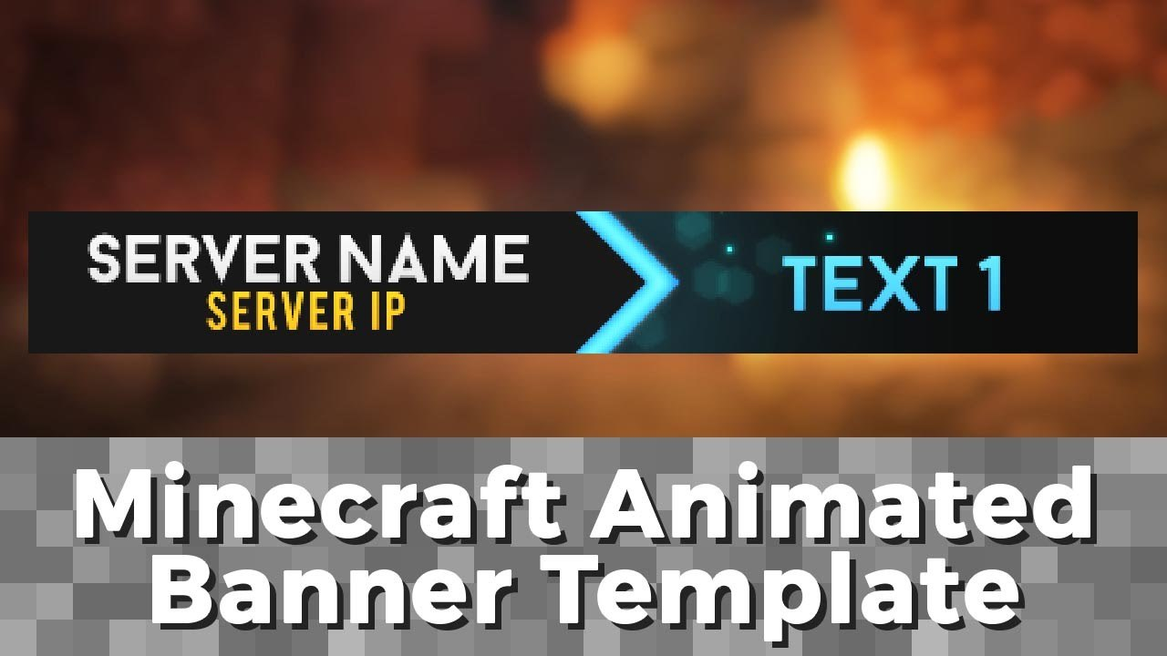 "Advanced Gif Minecraft Animated Banner Template  ""elegant Dazzle"" In Minecraft Server Banner Template"