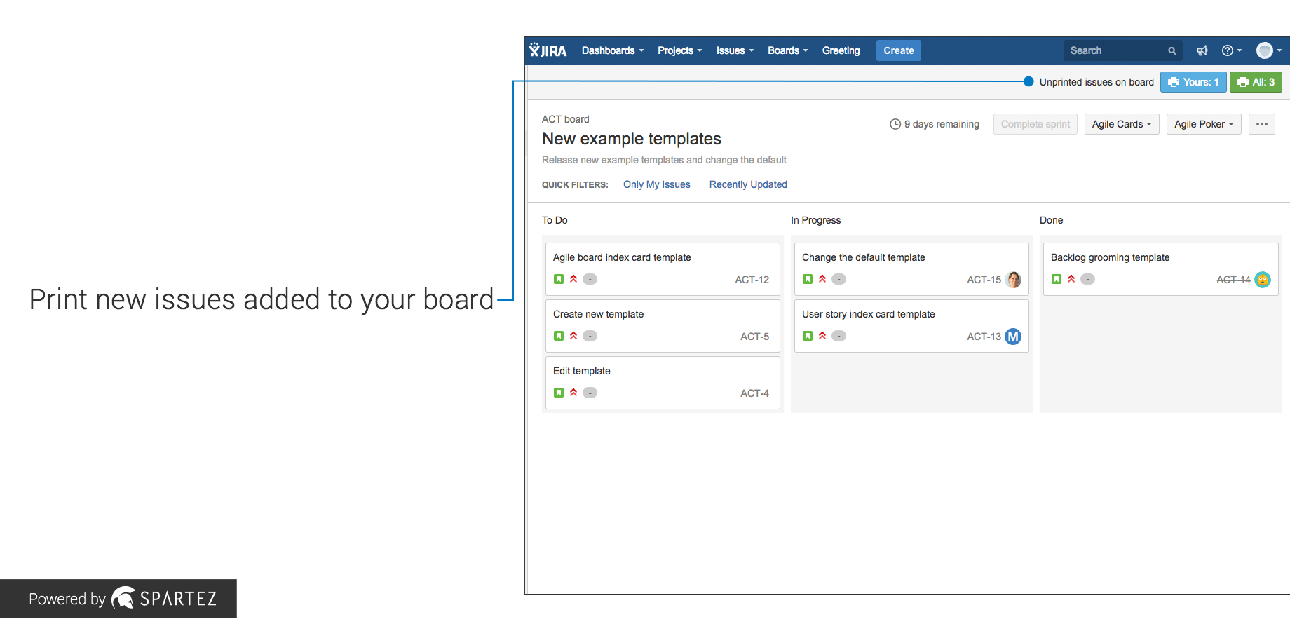 Agile Cards  Printing Issues From Jira  Atlassian Marketplace In Boyfriend Report Card Template