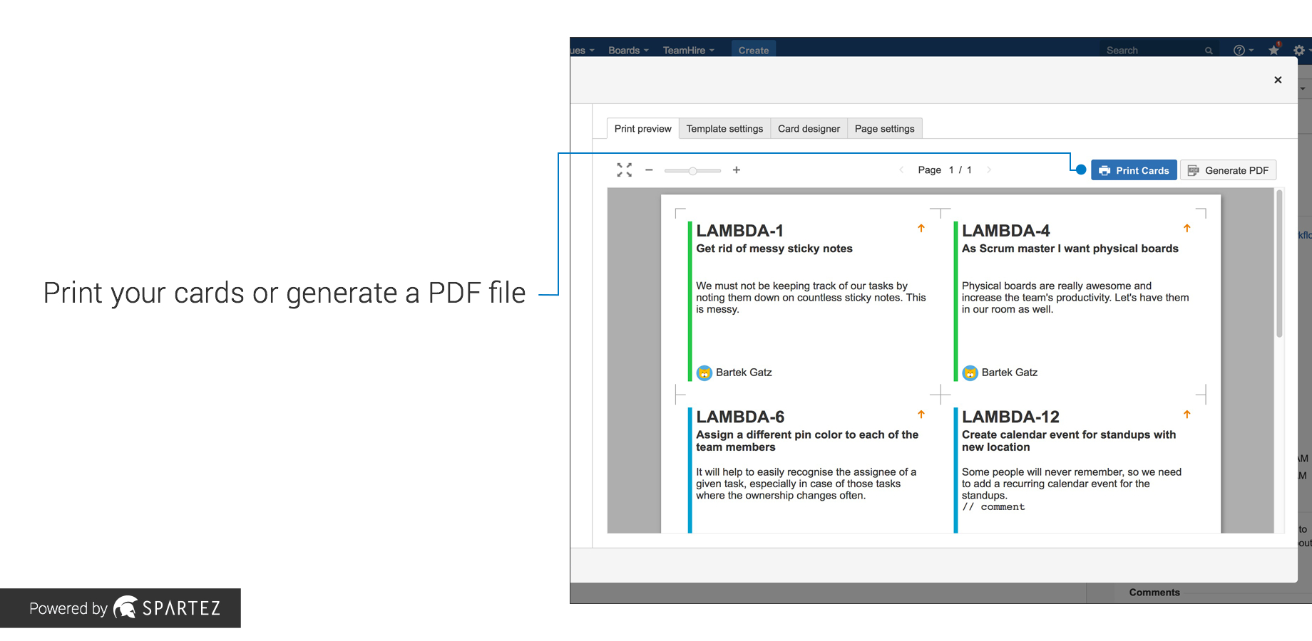 Agile Cards  Printing Issues From Jira  Atlassian Marketplace Throughout User Story Template Word