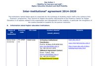 Agreement Form With Programme Countries for Erasmus Bilateral Agreement Template