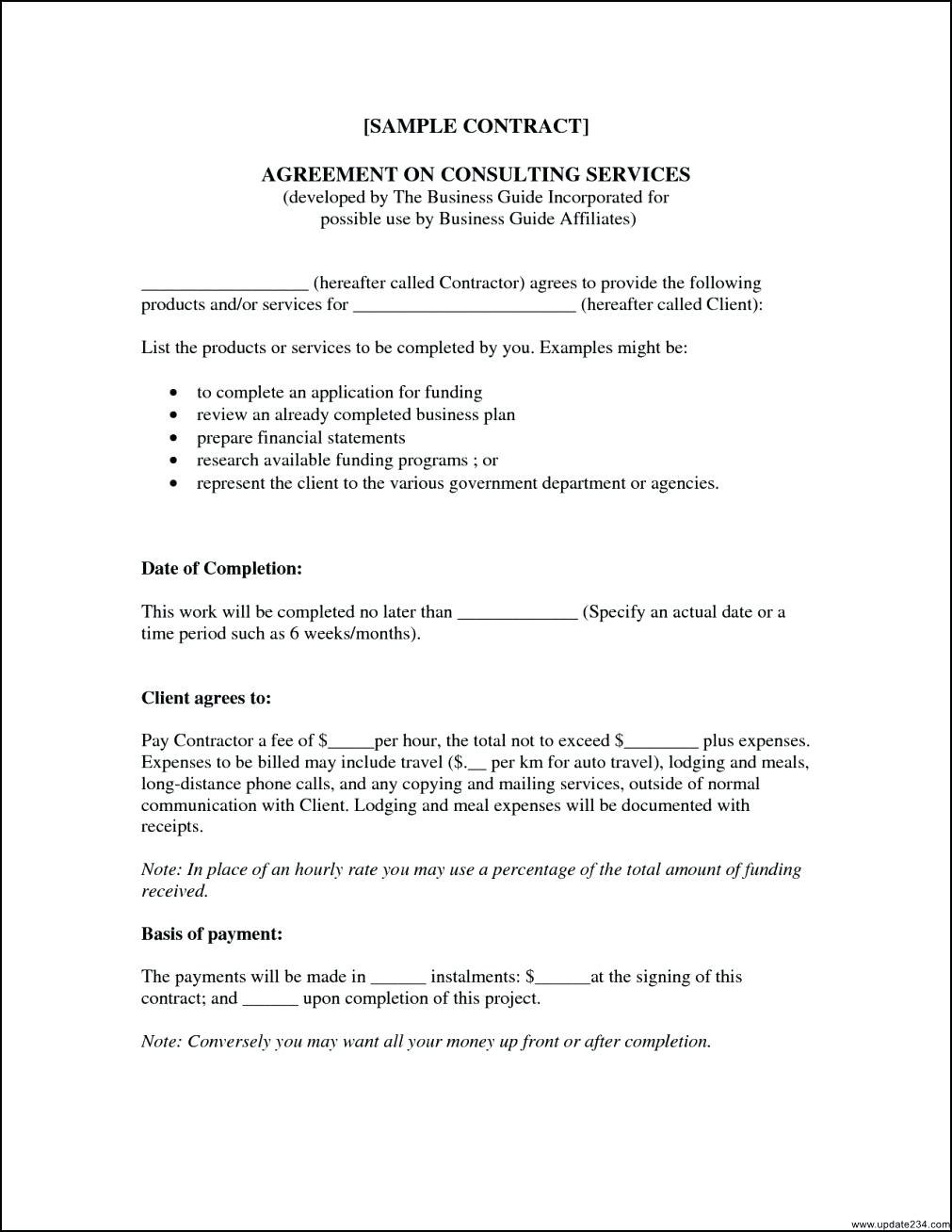 Agreement Of Consulting Services Document Sample  Consultancy Inside Consulting Service Agreement Template