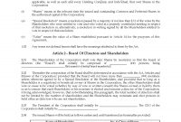 Alberta Unanimous Shareholder Agreement  Legal Forms And Business for Shareholders Agreement Template For Small Business