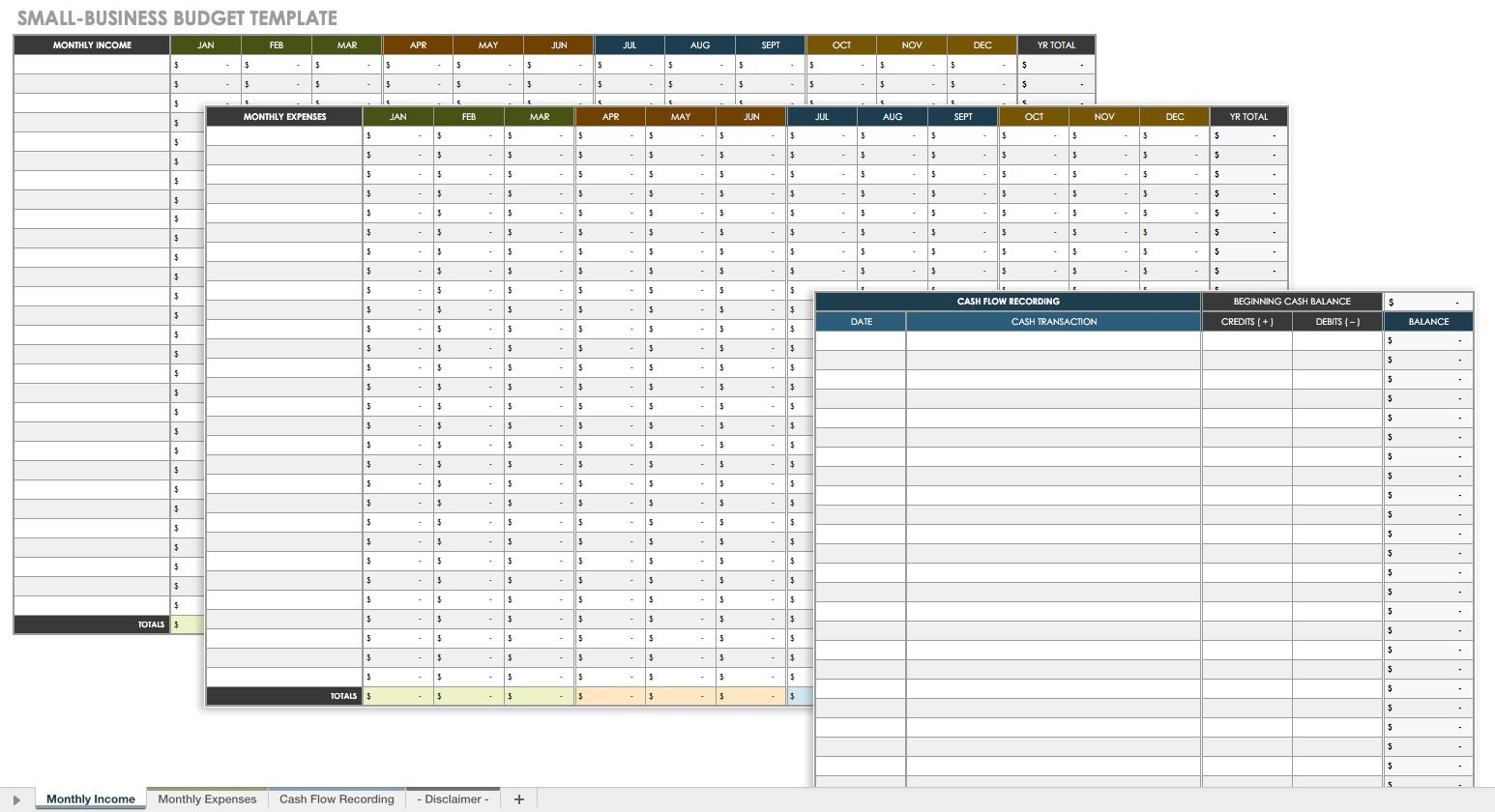 All The Best Business Budget Templates  Smartsheet Regarding Small Business Budget Template Excel Free