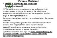Alternative Dispute Resolutionadrworkplace Mediation Practice for Workplace Mediation Outcome Agreement Template