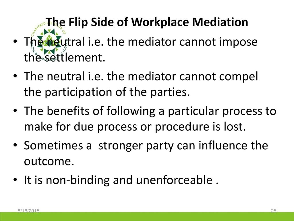 Alternative Dispute Resolutionadrworkplace Mediation Practice Within Workplace Mediation Outcome Agreement Template