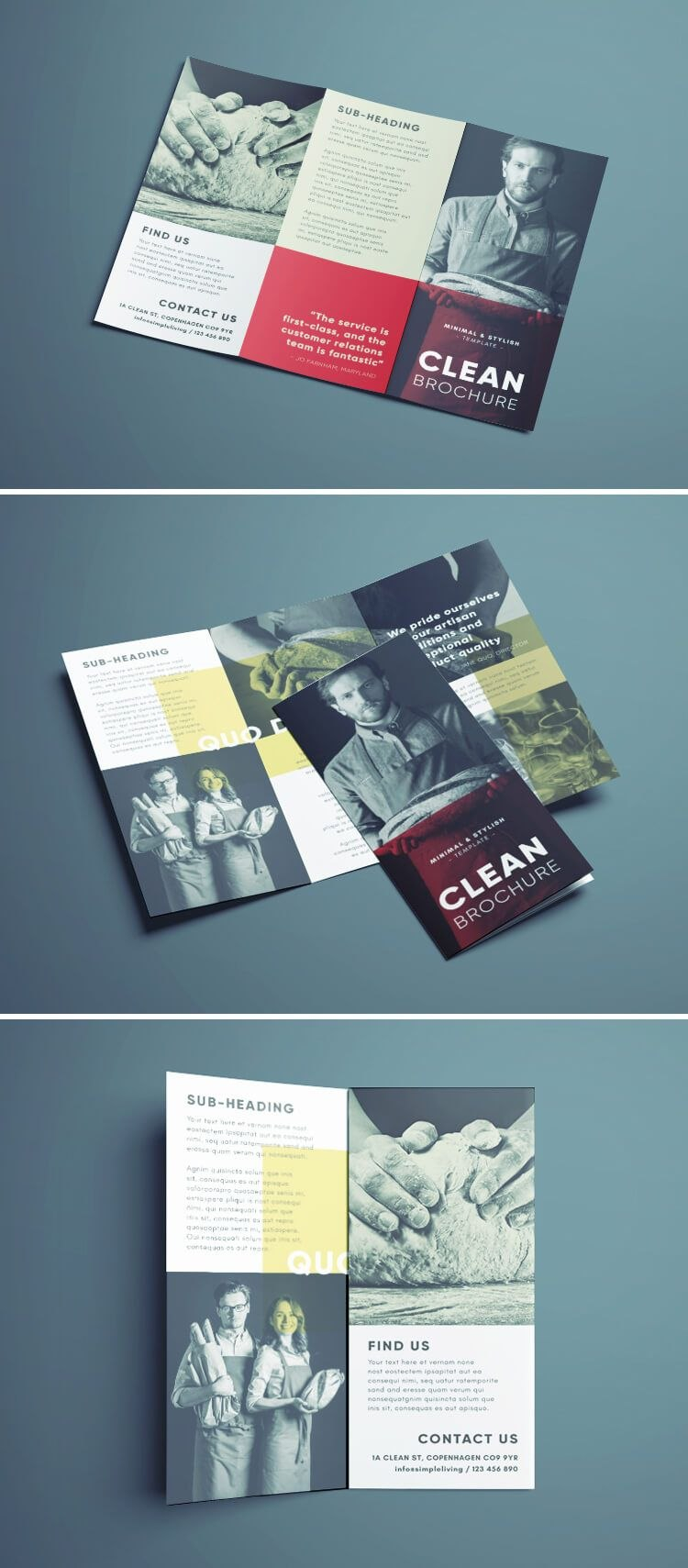 Amazing Clean Trifold Brochure Template  Brochures  Indesign With Regard To Cleaning Brochure Templates Free