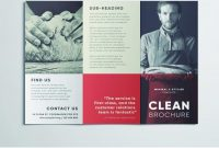 Amazing Clean Trifold Brochure Template  Free Download intended for Cleaning Brochure Templates Free