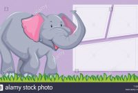 An Elephant On Blank Template Illustration Stock Vector Art with Blank Elephant Template