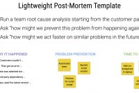 An Example And Template For Conducting Lightweight Postmortem regarding Business Post Mortem Template