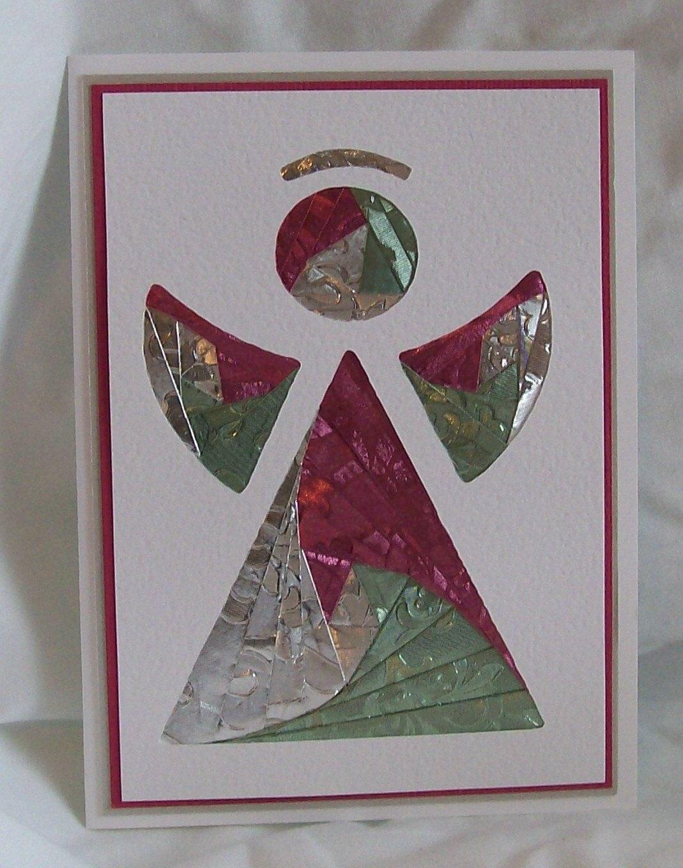 Angel Iris Folded Card  Iris Folding Cards  Iris Folding Pattern Throughout Iris Folding Christmas Cards Templates